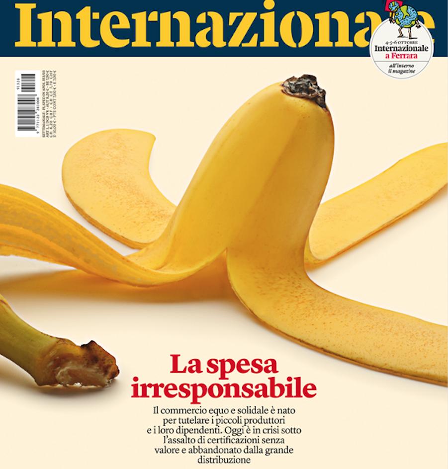 Copertina internazionale sul commercio equo e sollidale